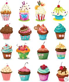 Cupcakes Clip Art Clipart.