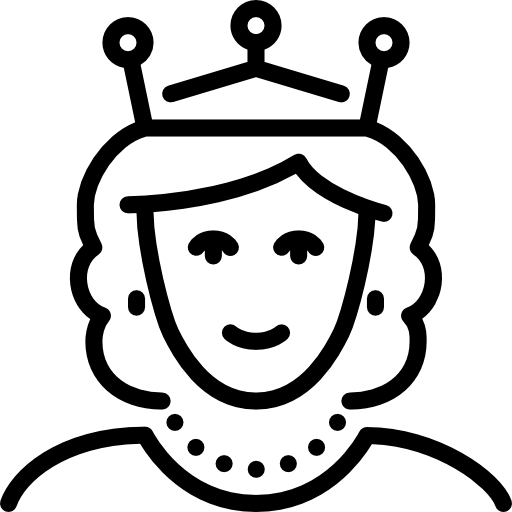 Queen black and white clipart 2 » Clipart Station.