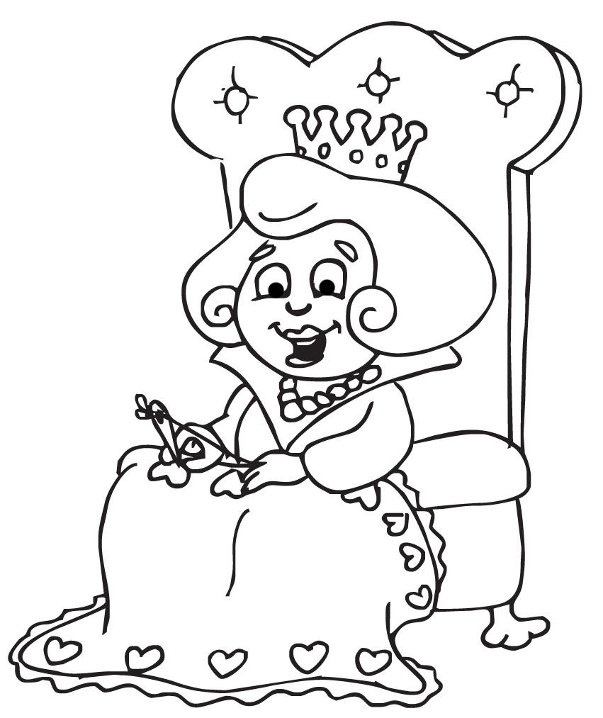 Queen Clip Art Black And White N2 free image.