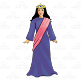 Queen Esther , with royal robes.