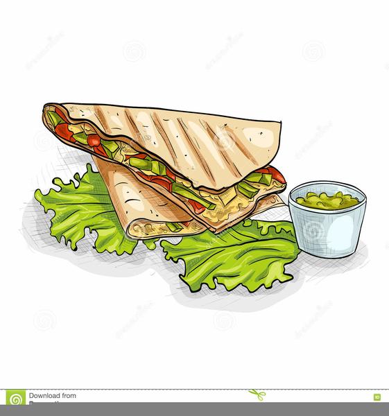 Clipart Of Mexican Food Quesadillas.