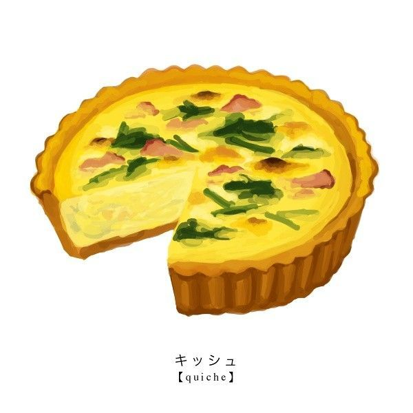 Image result for quiche clipart.
