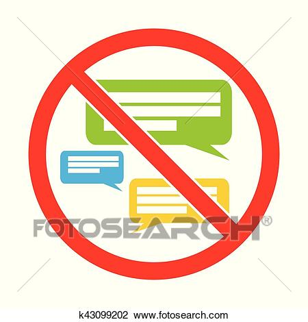 Silent please. No Speaking. Keep quiet. Sign vector Clipart.