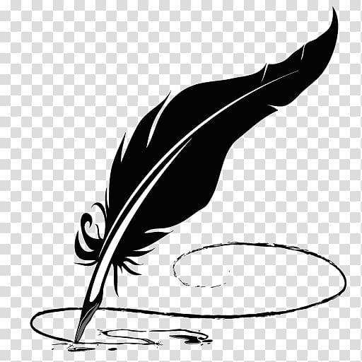 Paper Pen Quill Feather , pen transparent background PNG.
