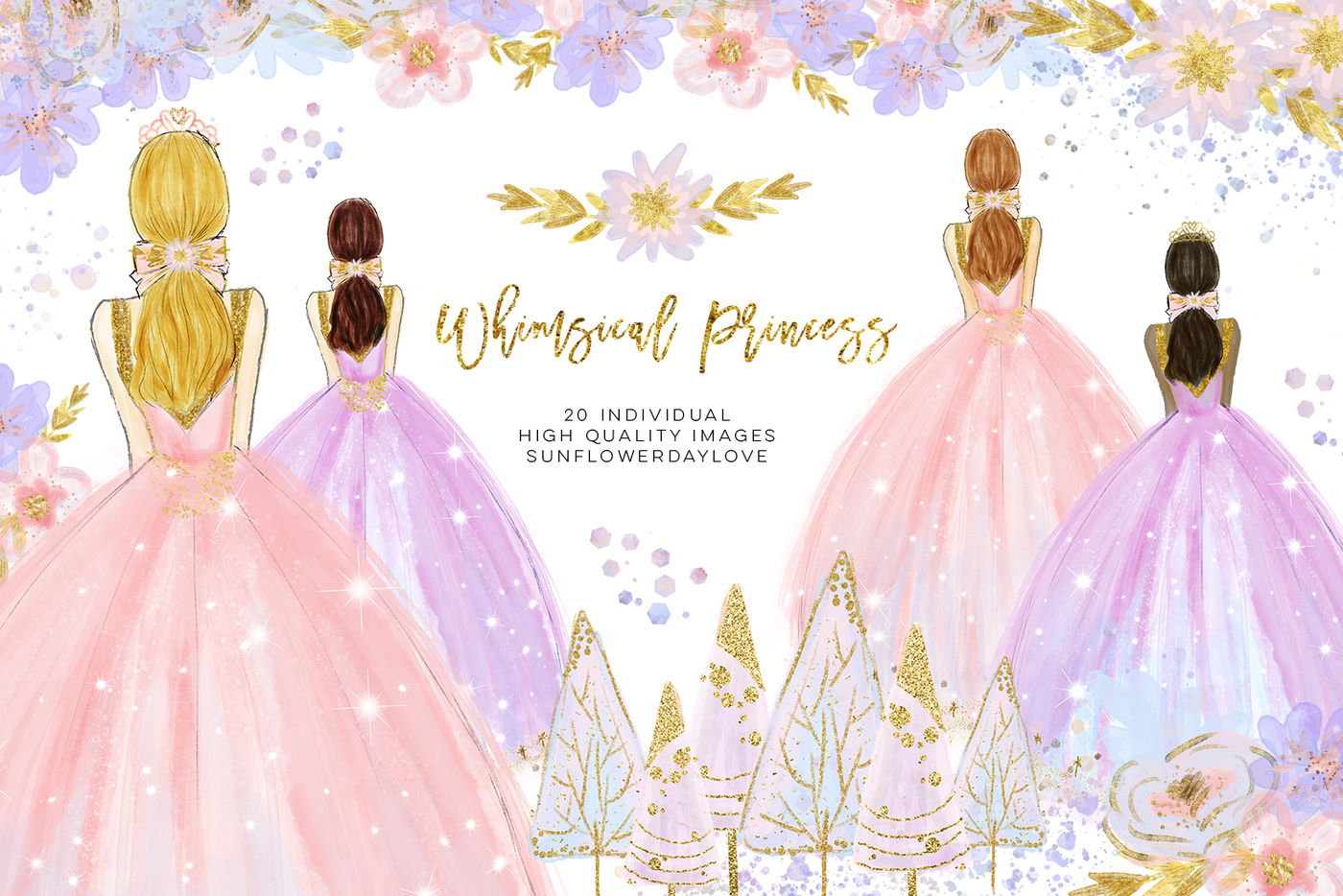 winter princess clip art, fashion clipart, Quinceañera.