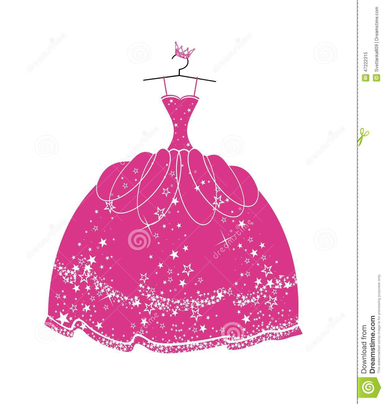 Quinceanera Dress Clipart.