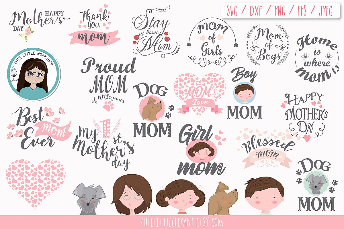 Mothers day Svg bundle Cliparts mother day, Mothers quotes.
