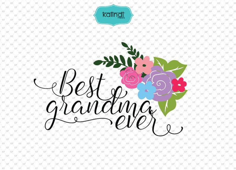 Best Grandma ever SVG file, grandma quotes clipart, quotes svg file,  grandma svg, grandma sign, grandma decor ID#svggrandma1.
