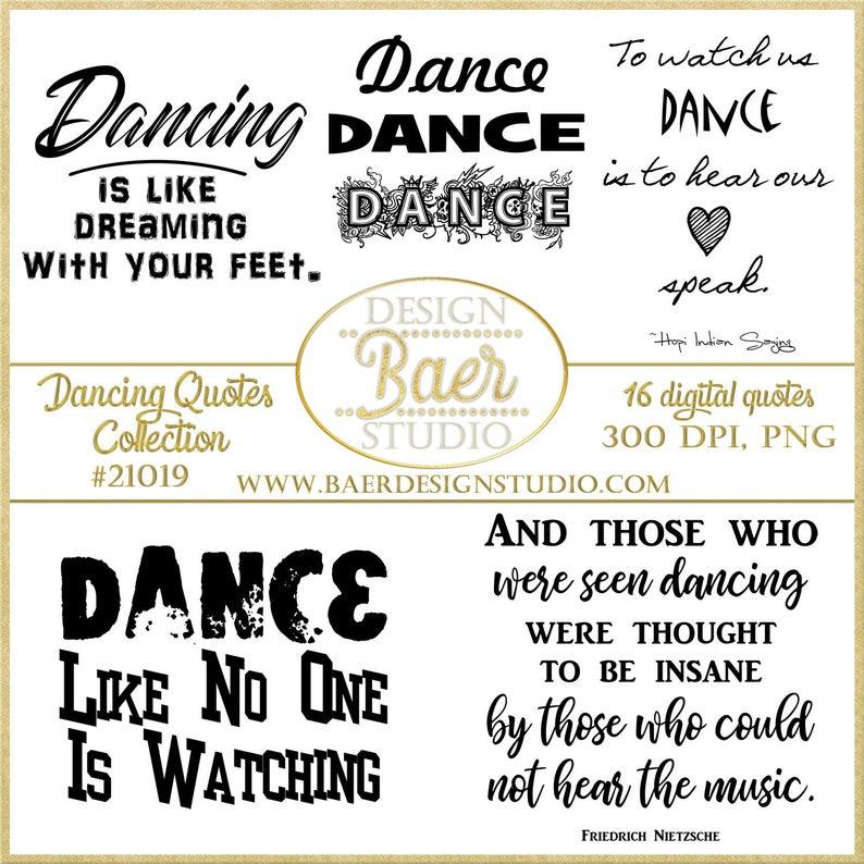 Dance Quotes:Dance Clip Art, Dancing Clip Art, Ballet Clip Art, Hip Hop  Clip Art, Printable Dancing Quotes, Planner Clipart, #21019.