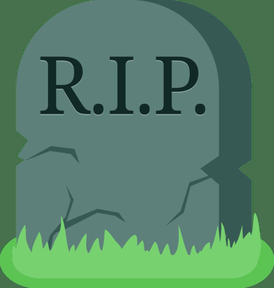 RIP Grave Clipart transparent PNG.