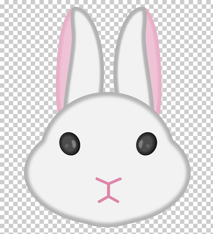Easter Bunny Hare Domestic rabbit , rabbit face PNG clipart.