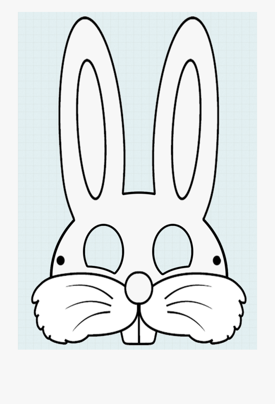 Rabbit Face Mask Template Clipart Easter Bunny Mask.
