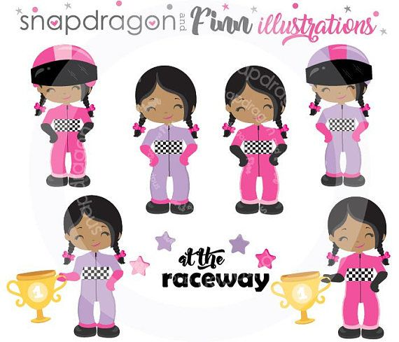 Girl Racing Clipart Pink Purple Race Car Clipart Race Car.