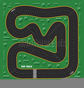 Clipart Of Race Tracks.