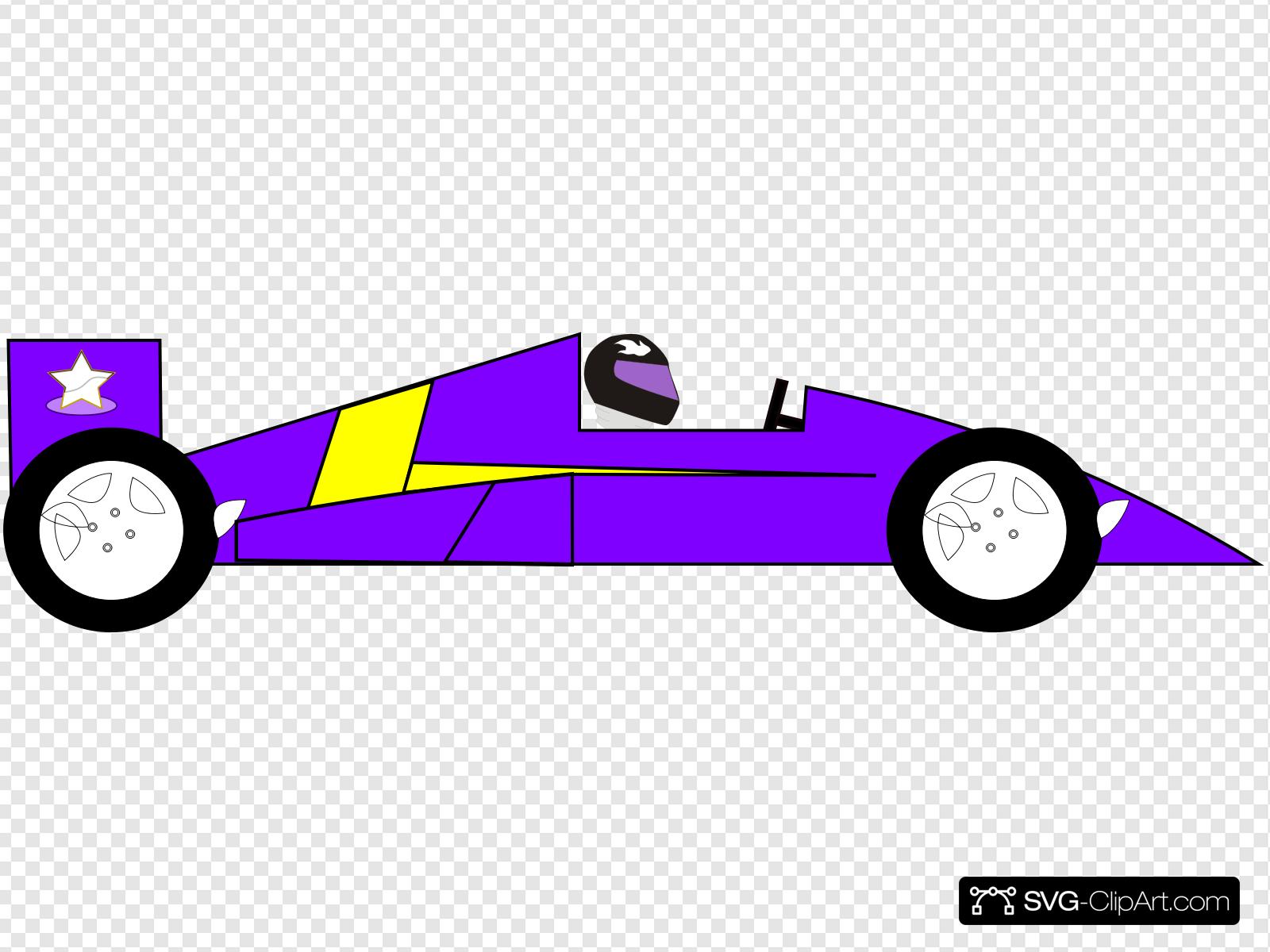 Purple Racecar Clip art, Icon and SVG.