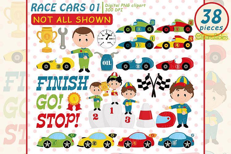 Cute race cars clipart, Racing party, Formula 1 clip art set.