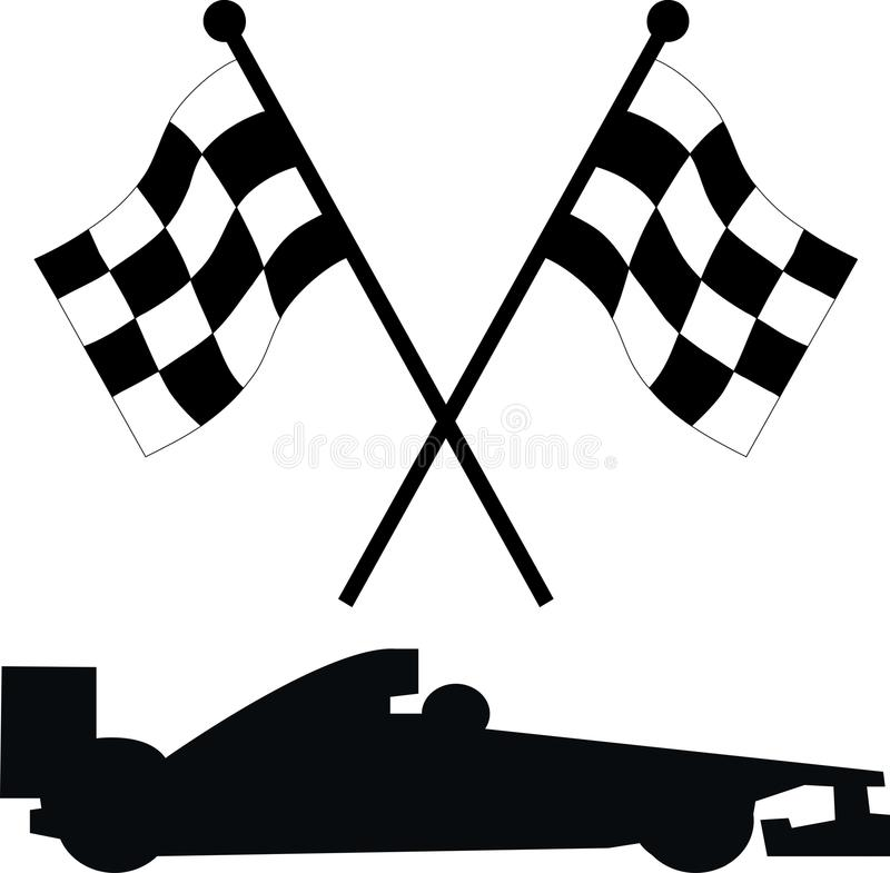 Racing Flags Stock Illustrations.