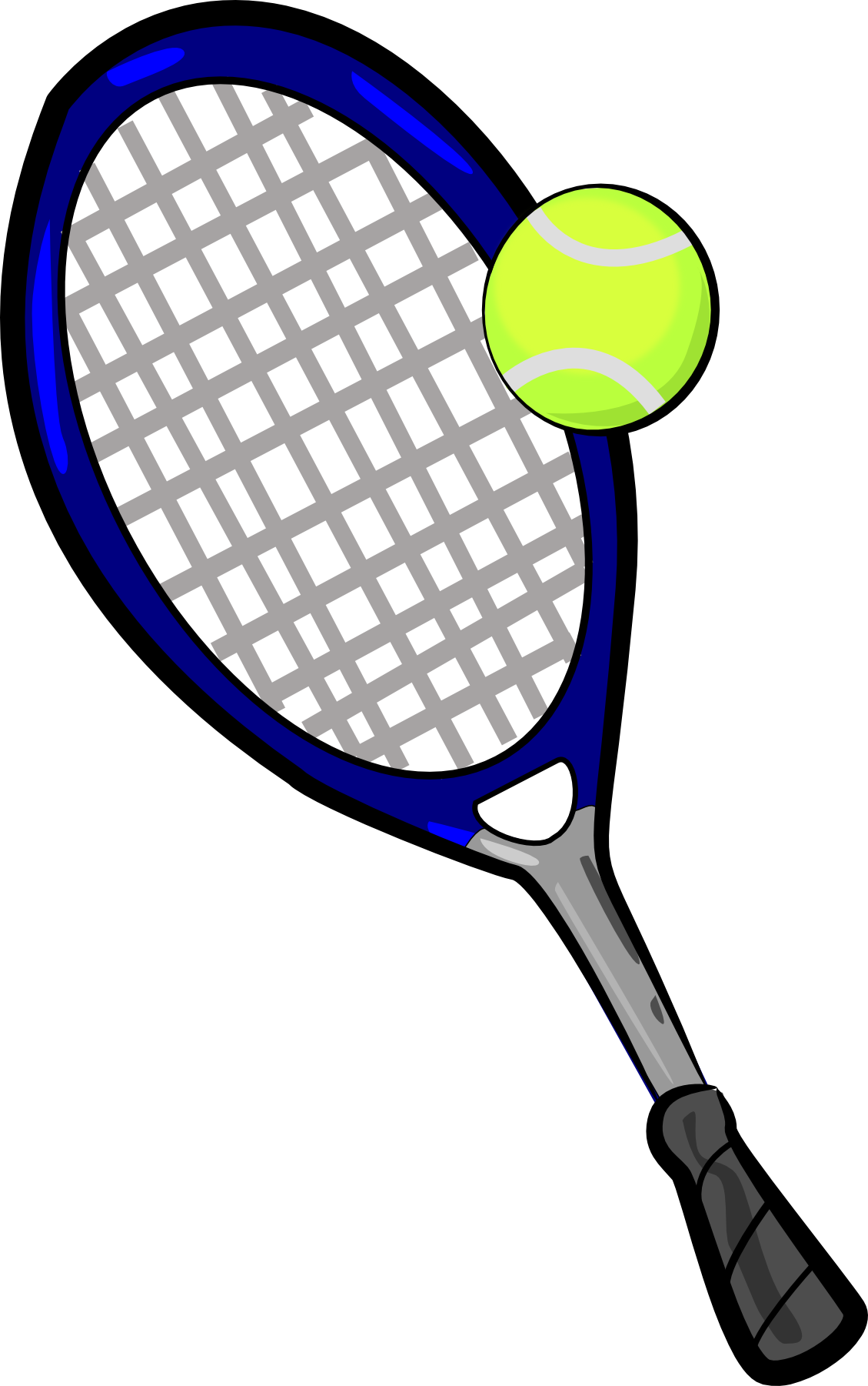 Tennis Ball And Racket Clip Art.