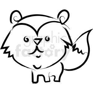 racoon drawing vector icon clipart. Royalty.