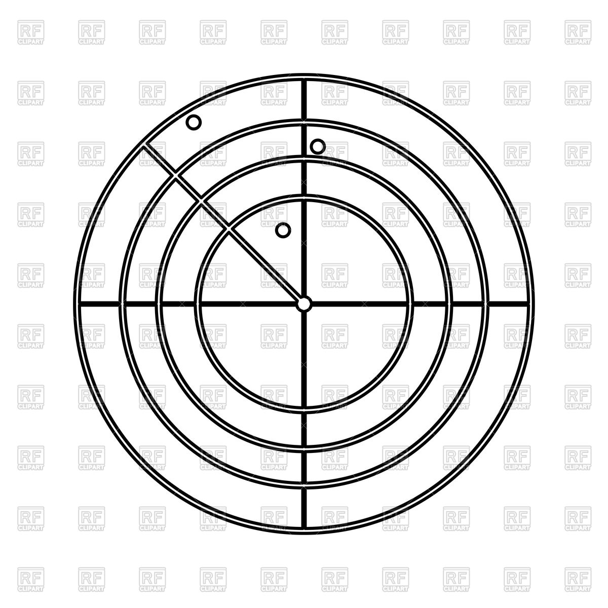 Radar black color icon Stock Vector Image.
