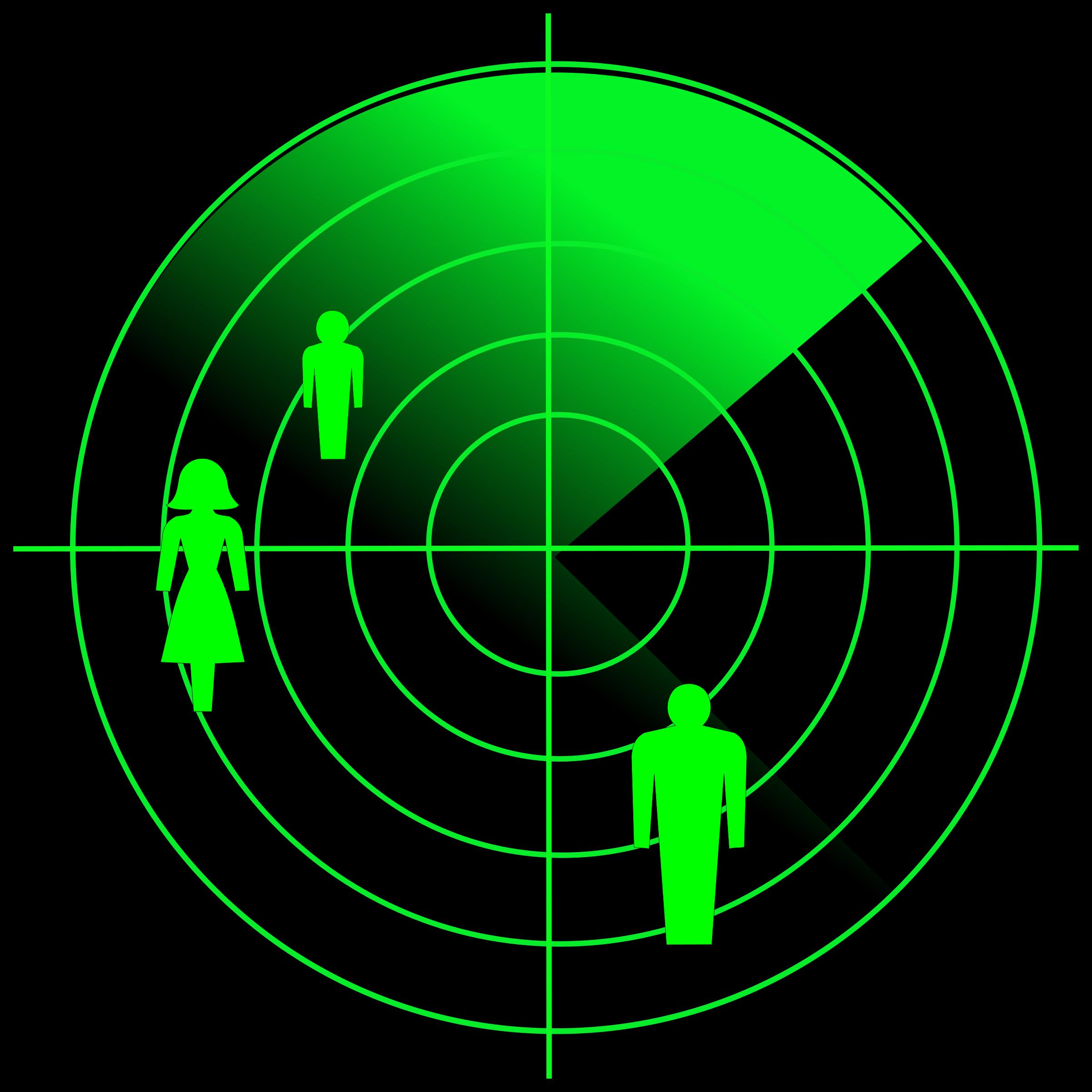 People radar vector clipart image.