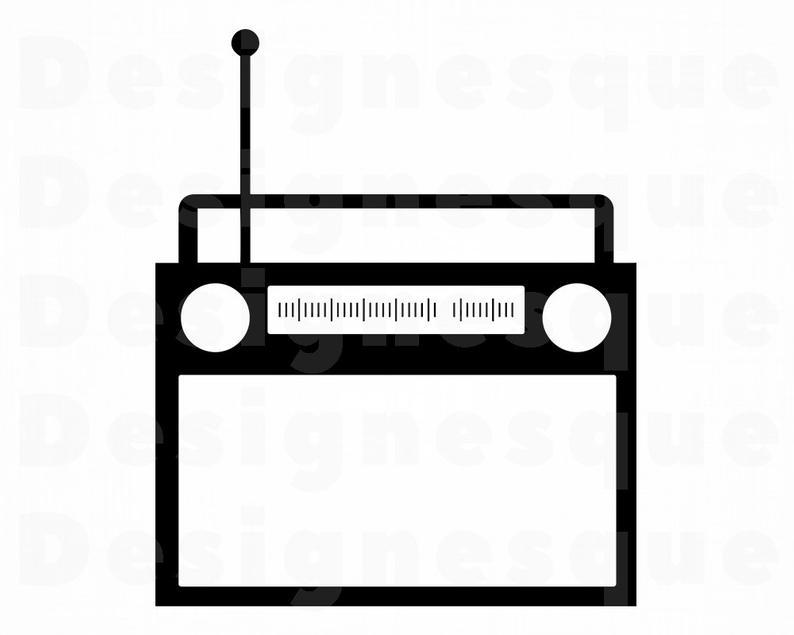 Radio #2 SVG, Radio Svg, Boombox Svg, Radio Clipart, Radio Files for  Cricut, Radio Cut Files For Silhouette, Radio Dxf, Radio Png Eps Vector.