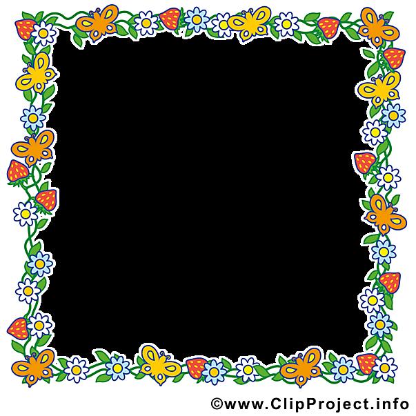 Rahmen aus Blumen.