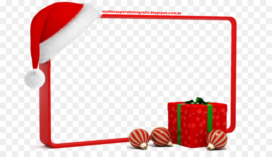 Santa Claus Weihnachten Bilderrahmen Geschenk Clip art.