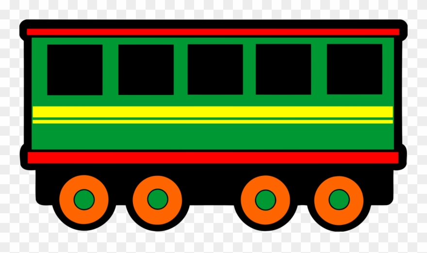 Rail Transport Passenger Car Train Classic Clip Art.