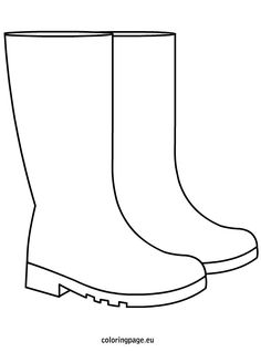 Rain Boots Coloring Page.