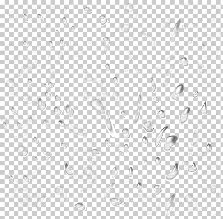 Black and white Drop Water Pattern, Rain effect element.