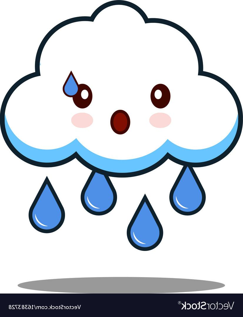 HD Cartoon Rain Cloud Clip Art Vector Design » Free Vector.