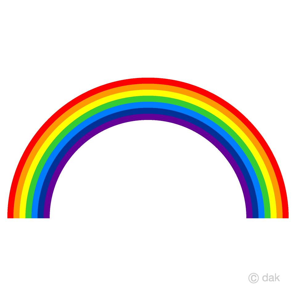 Free Rainbow Clipart Image|Illustoon.