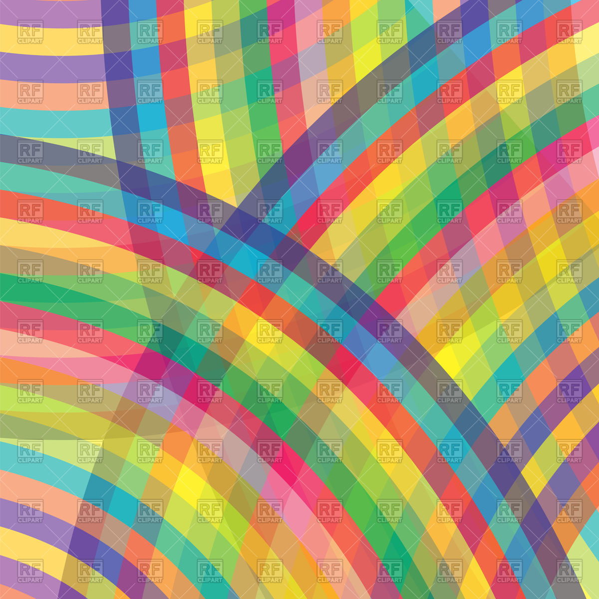 Abstract colorful rainbow background Vector Image #84685.