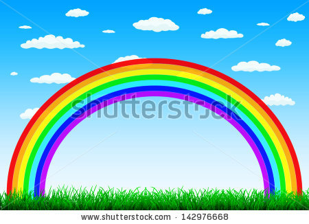 Rainbow Background Stock Images, Royalty.