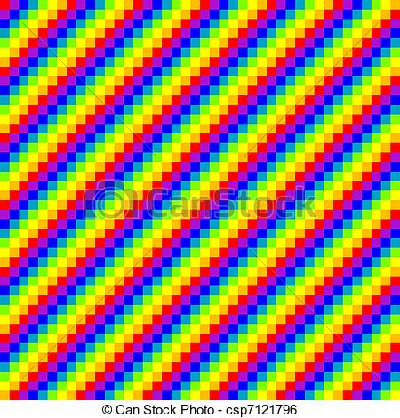 Clip Art Vector of seamless pixel rainbow background, vector.