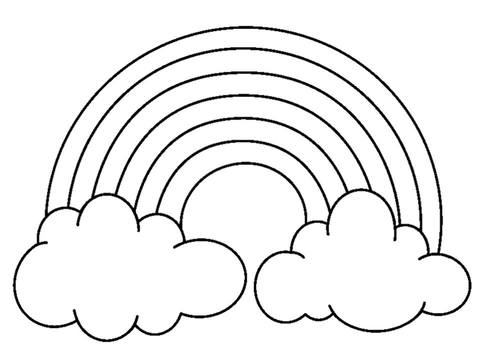 Rainbow Black And White Clipart.