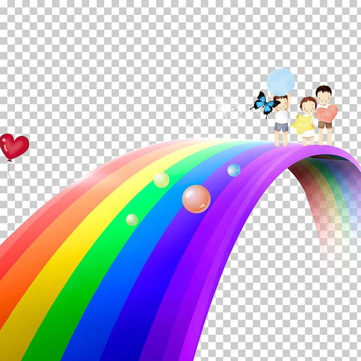 Rainbow Cartoon Bifrxf6st , Rainbow bridge PNG clipart.