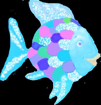 Rainbow fish clip art.