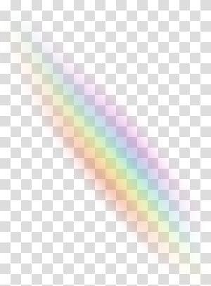 Rainbow Light Color Sky, Light effects transparent.