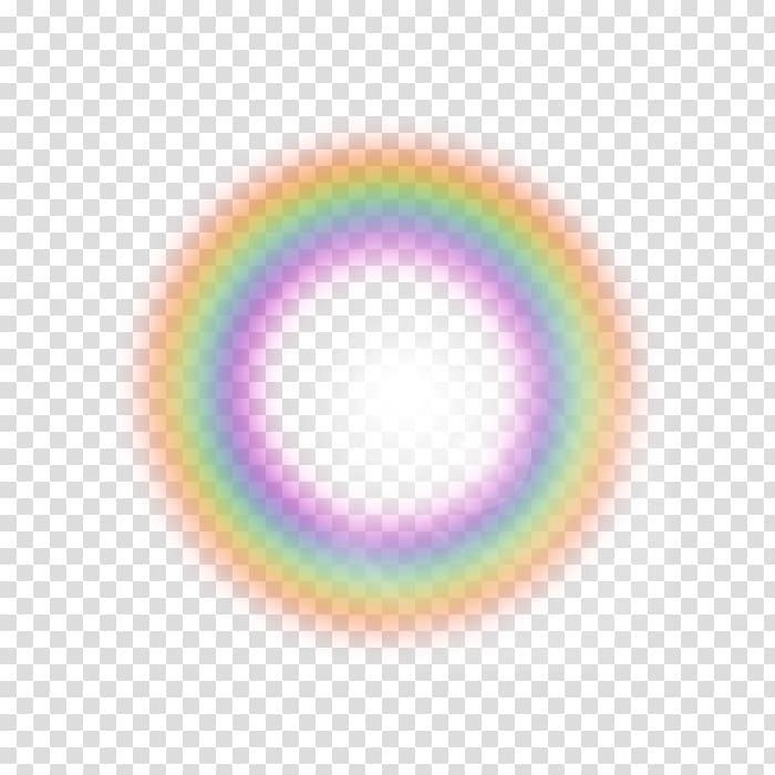 Rainbow Light Circle Disk Violet, rainbow transparent.