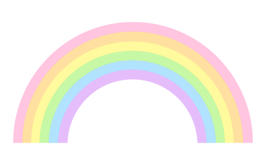Cute Pastel Rainbow Clip Art.