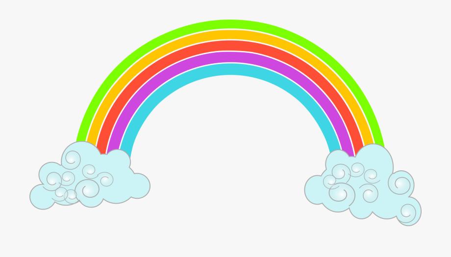 Rainbow Clouds Clipart.