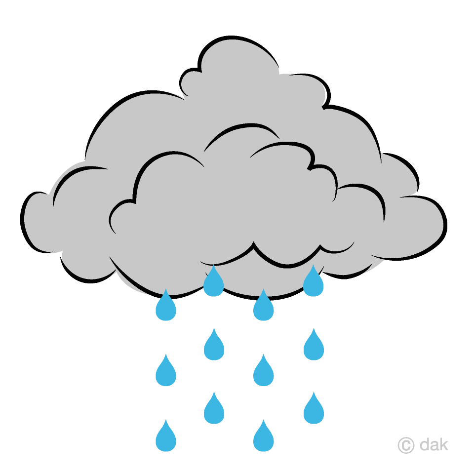 Free Rain Cloud Clipart Image|Illustoon.