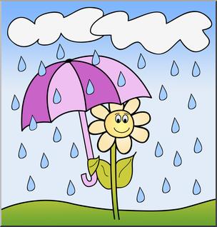 1354 Rainy free clipart.