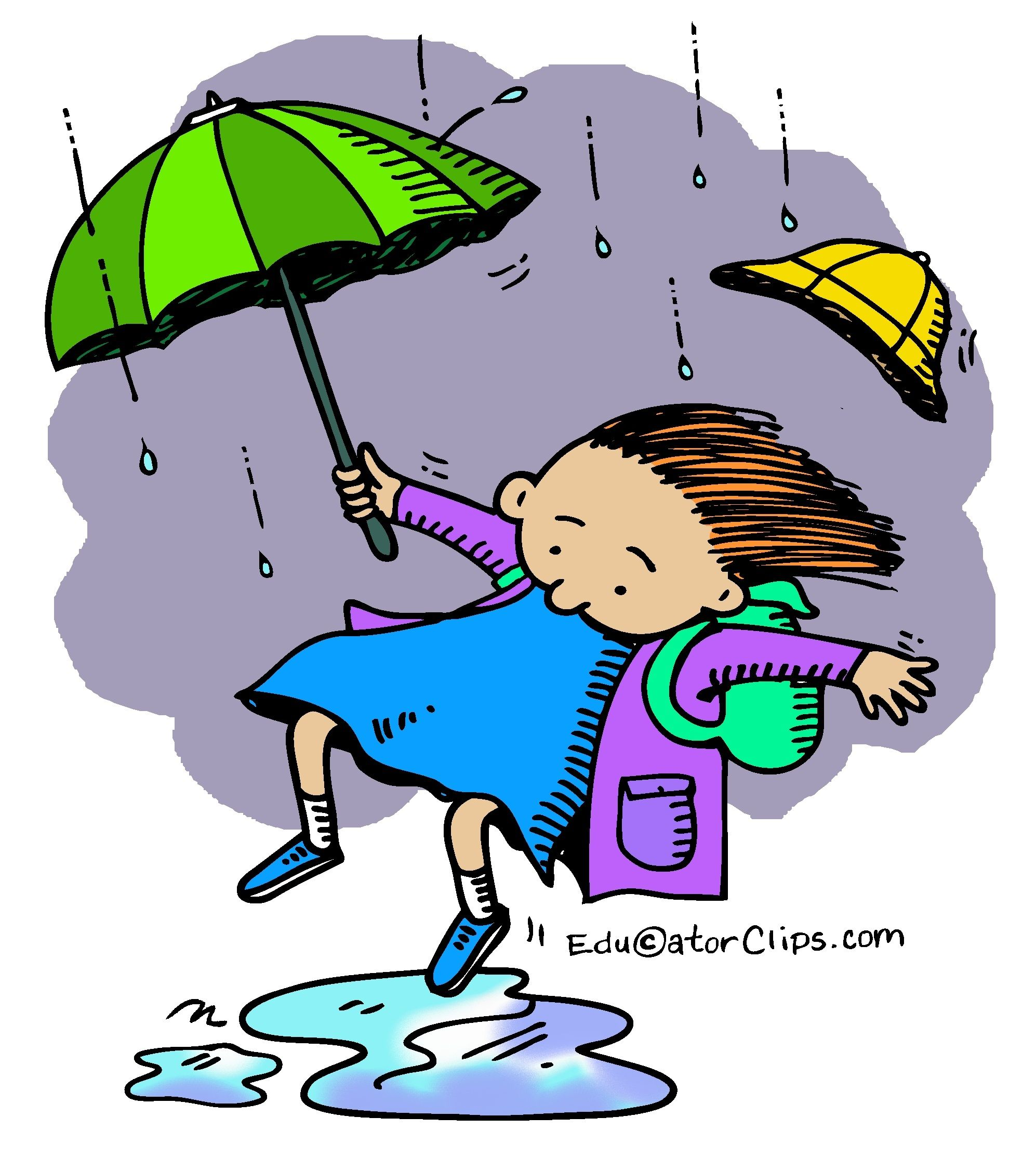 Rainy Day Puddle Clip Art by Mark A. Hicks.