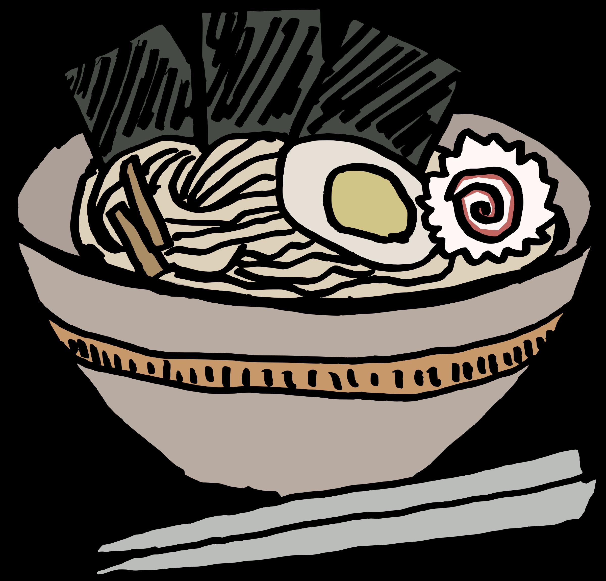 Ramen Bowl Nori vector clipart image.