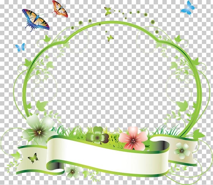 Frames Flower , kwiaty ramka PNG clipart.