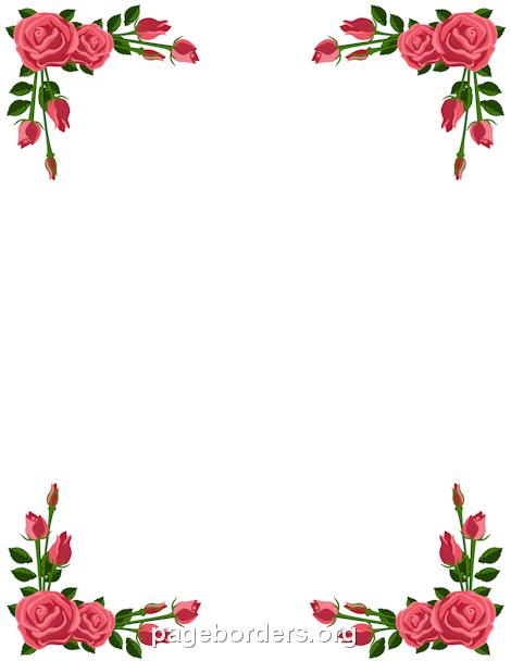 Billedresultat for clipart roser rammer.