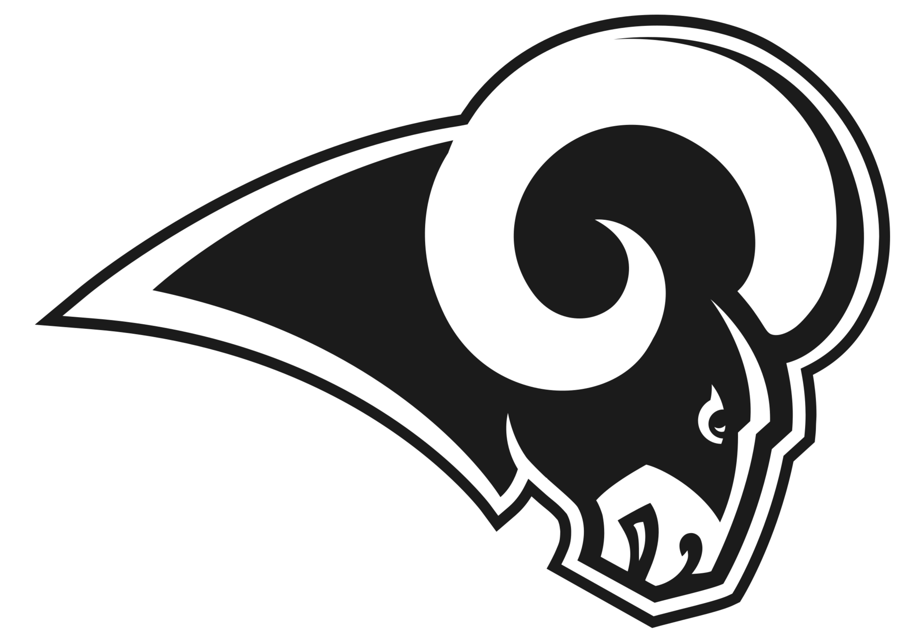 Los Angeles Rams Logo 2018 Clipart.